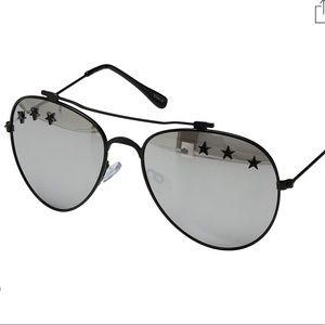 NEW Black Steve Madden 60mm Aviator Sunglasses